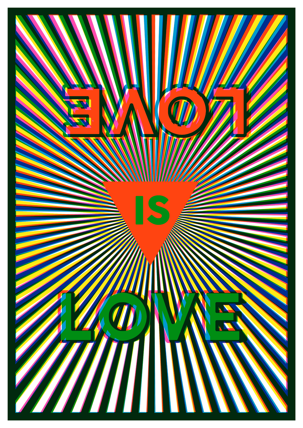 'Love is Love' Margate pride poster by Jacob Love