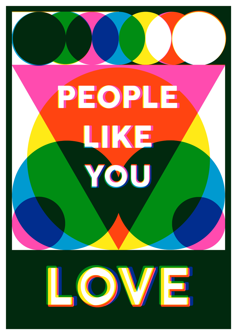 'People Like You Love' one of a series of posters by Jacob Love for Margate Pride